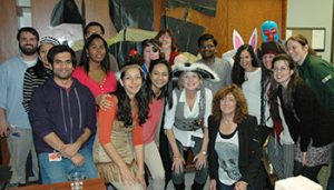 The Department of Immunology takes a break to celebrate Halloween.