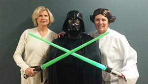 Immunology office crew dressed for halloween