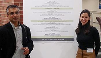 Dr. Kamal Khanna and graduate student Oriana Perez