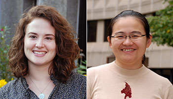 Ph.D. Students Roslyn Taylor and Yinghong Hu