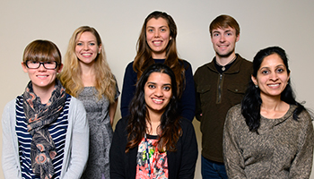 An abundance of Fall 2016 awards for our Immunology graduate students and postdoctoral fellows! Please clink on the link to read more about their accomplishments. Seated Front Row Left to Right: April Masters, Ishita Banerjee, Paurvi Shinde. Standing Back Row Left to Right: Julie Svedova, Basak Cicek, Spencer Keilich. Not pictured: Dr. Jenna Bartley and Dr. Payal Mittal.