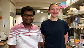 Dr. Vijay Rathinam standing next to Ashley Russo