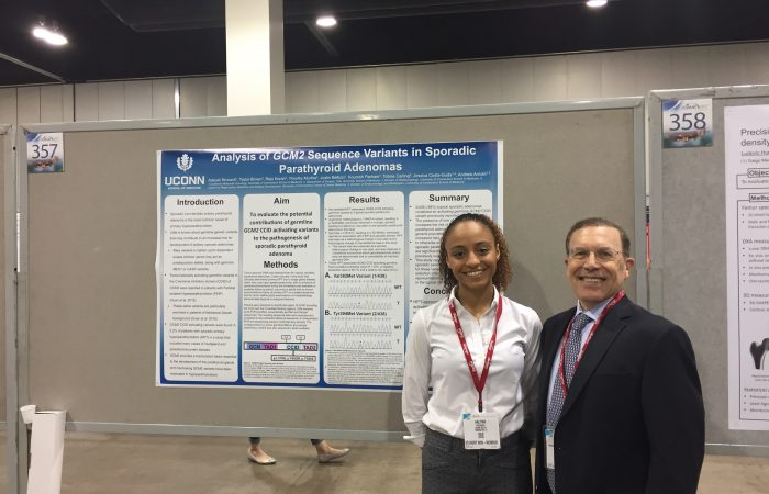Dr. Arnold and Aaliyah at 2017 ASBMR Annual Meeting poster session.