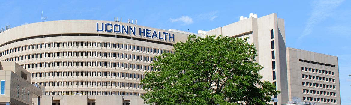 UConn Health sign on the building