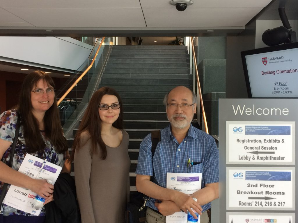 Our team at the Genome Editing conference