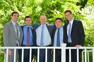 Chief Residents at graduation