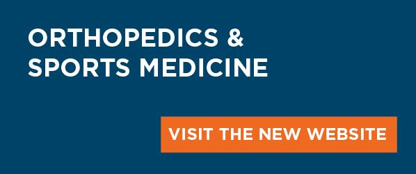 Orthopedics and Sports Medicine banner