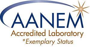 AANEM Accredited Laboratory logo