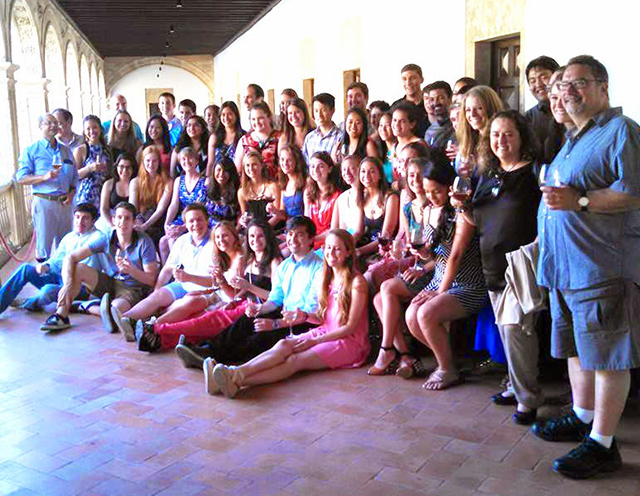 Group photo in Salamanca, Spain