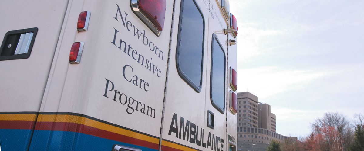 Newborn Intensive Care transport vehicle
