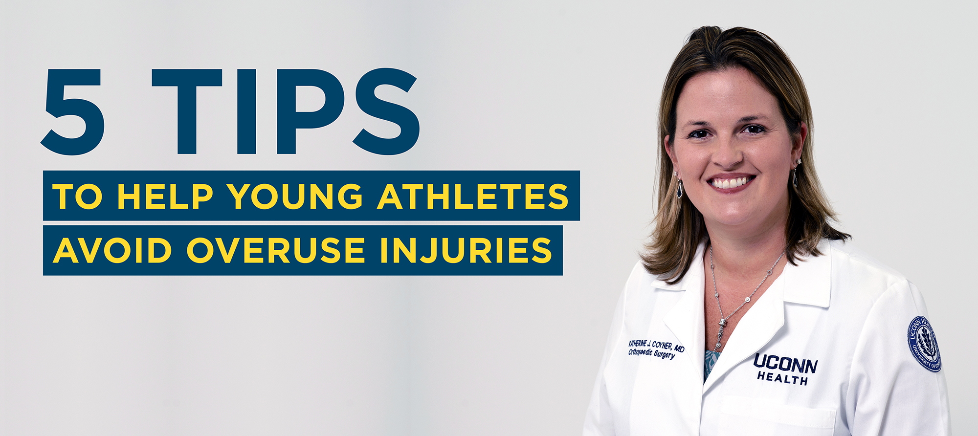 Katherine J. Coyner, M.D., orthopaedic surgeon in the UConn Musculoskeletal Institute