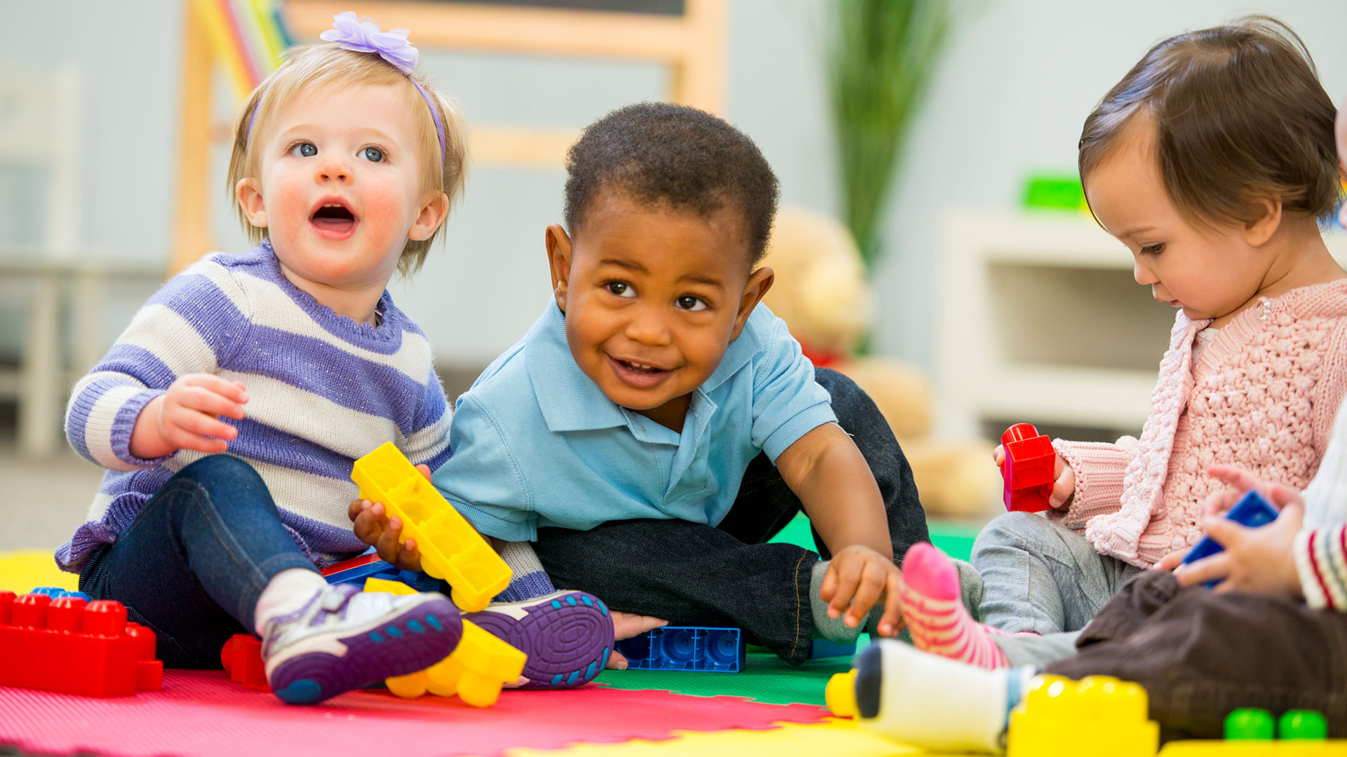 group of toddlers playing
