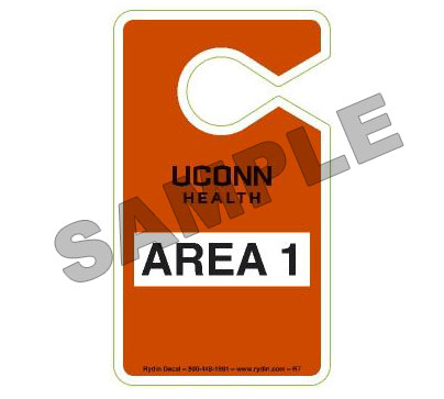 Sample of Area 1 Hangtag