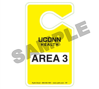 Sample of Area 3 hangtag