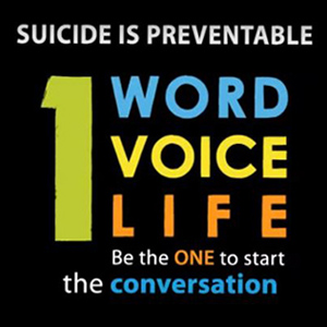 OneWord OneVoice OneLife - Suicide is Preventable Logo