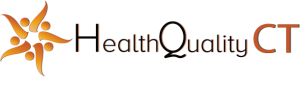 "HealthQuality CT logo with text, ""HealthQuality CT"""