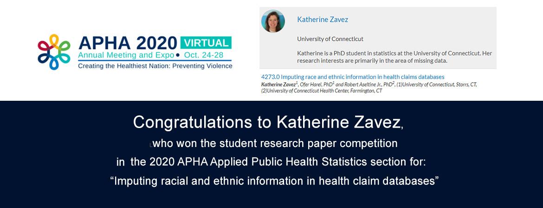 Congratulations to Katherine Zavez