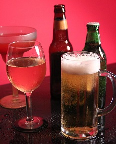Alcohol examples - beer, wine and drink