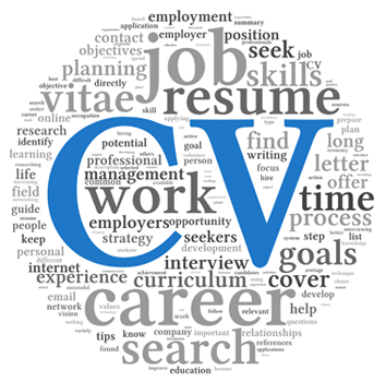 CV and Job Career Word Cloud