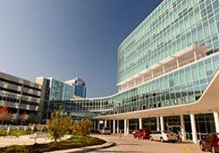 Outpatient Pavilion entrance and patient drop off area