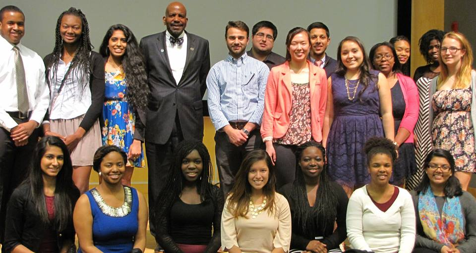 Group photo from the John and Valerie Rowe Scholars Visiting Lecture Series at UConn