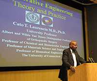 Dr. Cato Laurencin at the John and Valerie Rowe Scholars Visiting Lecture Series at UConn