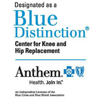 The UConn Health Center's New England Musculoskeletal Institute has been named a Blue Distinction Center for Spine Surgery as well as a Blue Distinction Center for Knee and Hip Replacement. Logo courtesy of Anthem Blue Cross Blue Shield in Connecticut.