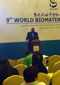 World Biomaterials Congress in Chengdu, China