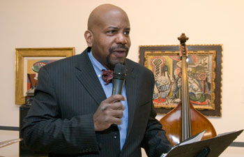 "Dr. Cato T. Laurencin saying a few words at the ""The Taste of History."""