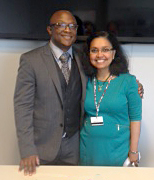 Eric James and Dr. Lakshmi S. Nair