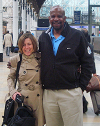 Professor Maria Marlow of the Department of Pharmacy, University of Nottingham with Dr. Cato Laurencin