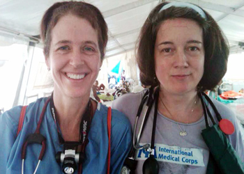 Drs. Lynn Kosowicz and Susan Levine are running the ICU at the Hospital Universidad et Haiti in Port of Prince, Haiti.