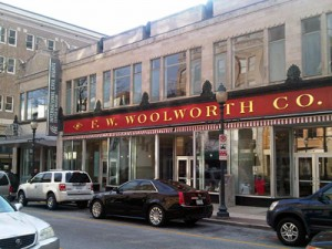 The Woolworths in Greensboro, site of the first sit in.