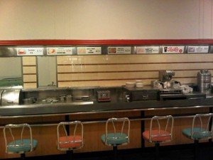 The Woolworth counter in Greensboro, that was the site of the origin of the sit in movement.