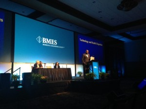 Dr. Cato Laurencin speaks at the 25th Biomedical Engineering Society Meeting in Tampa, FL.
