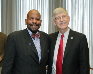 Cato T. Laurencin, M.D., Ph.D., with NIH Director Francis S. Collins, M.D., Ph.D.