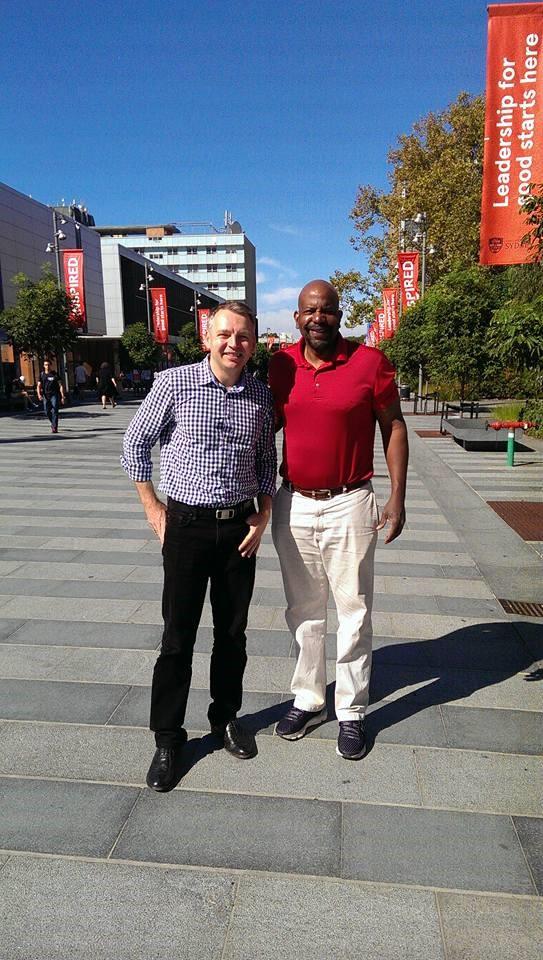 Dr. Chrzanowski Wojciech and Dr. Cato Laurencin in Sydney, Australia