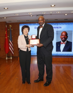 Zhang Qiyue with Dr. Cato T. Laurencin