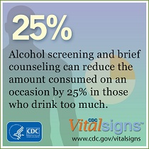 SBI can reduce the amount of alcohol consumed by 25%