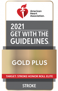 American Heart Association 2021 Get with the Guidelines Gold Plus Award
