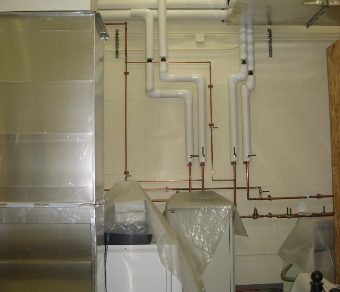 New cooling water lines