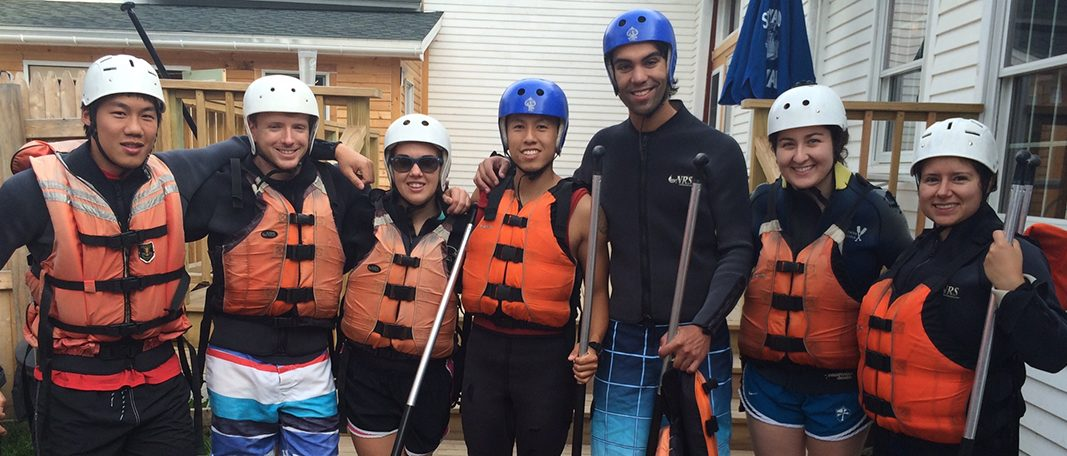 Student river rafting trip
