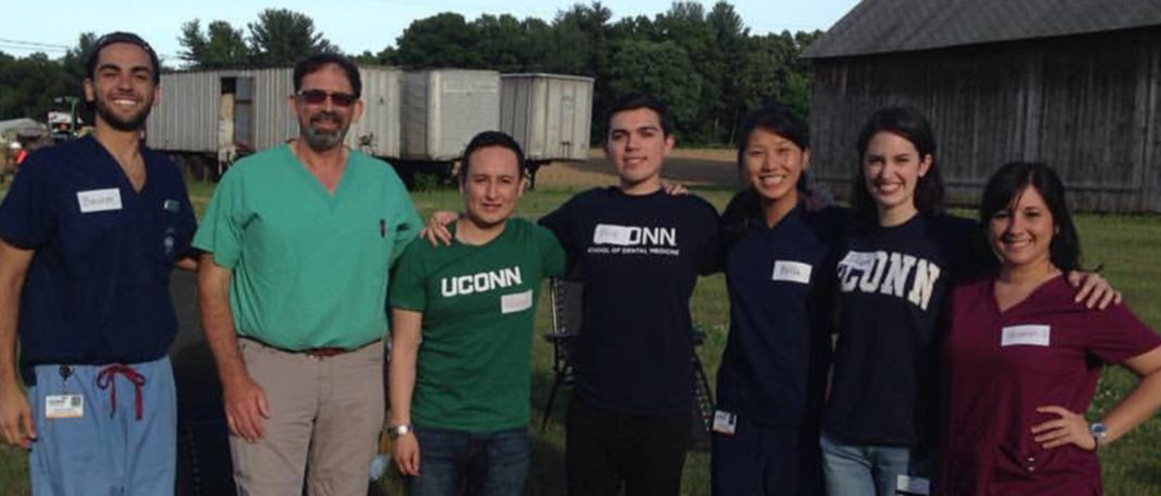 UConn School of Dental Medicine faculty and students in the community