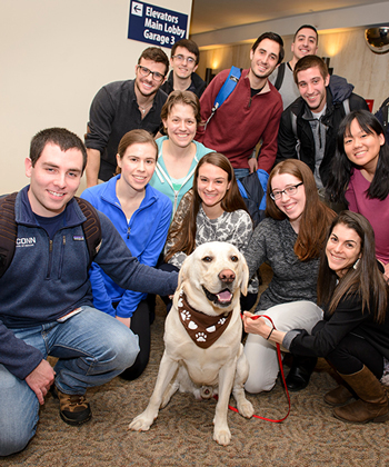 Students with a service dog