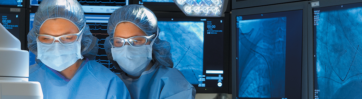 Physicians in the operating room