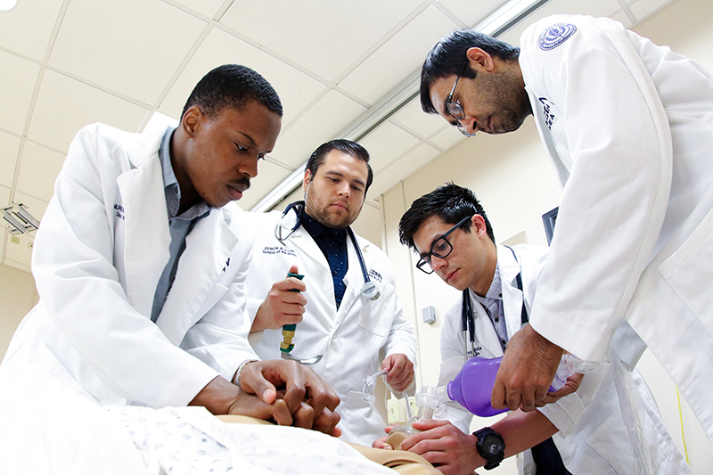 Medical students receive training on diagnostic, management and team building skills