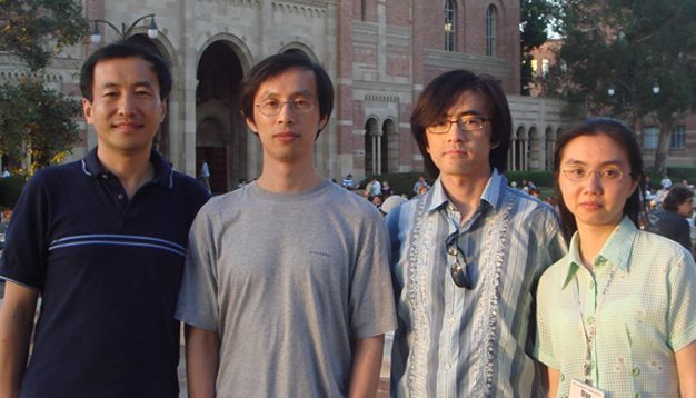 2007 International Worm Meeting in Los Angeles, CA. Zhao-Wen Wang, Bojun Chen, Qiang Liu, and Qian Ge