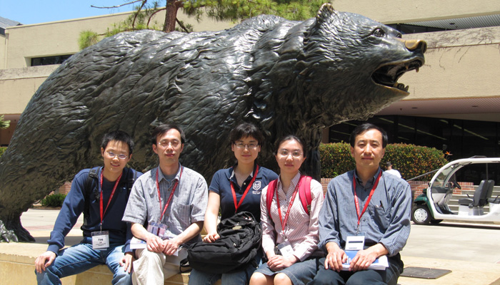 2009 International Worm Meeting in Los Angeles, CA. Ping Liu, Bojun Chen, Haiying Zhan, Qian Ge, and Zhao-Wen Wang