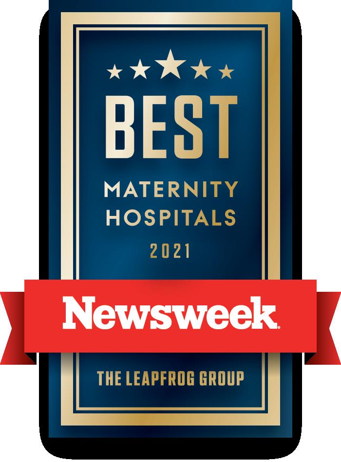 Newsweek's Best Maternity Hospitals 2021 logo