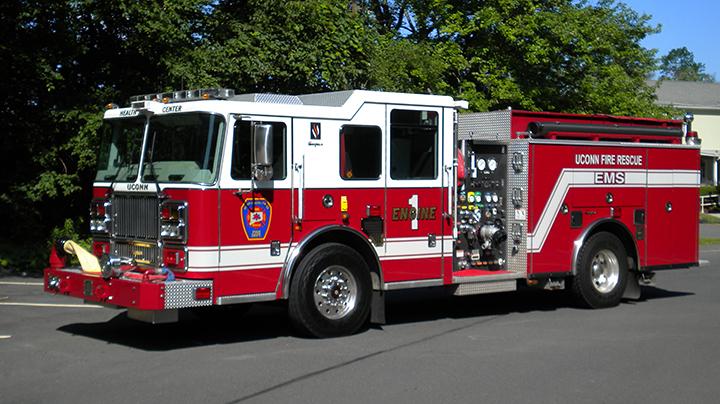 UConn Health fire truck